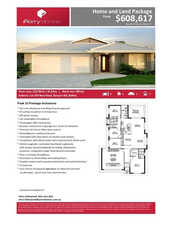 Lot 309 New Road, Banyan Hill Estate, Ballina NSW 2478, Image 1